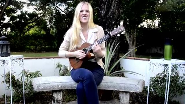 Girl Performs Her Own 'To Be, Or Not to Be' Song On Ukulele