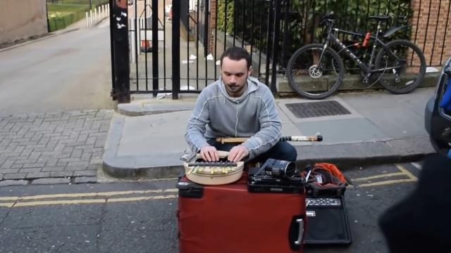 Amazingly creative street musician in London