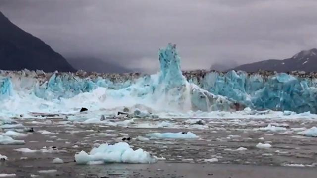 Incredibly Large Glacier Calving Caught On Camera