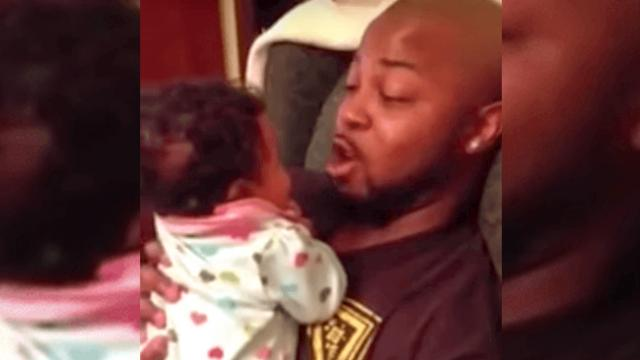 Dad has hilariously precious argument with baby daughter