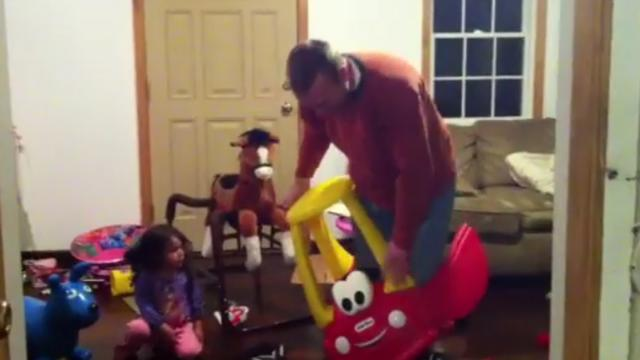 Man Gets Trapped Test Driving Toddlers New Toy
