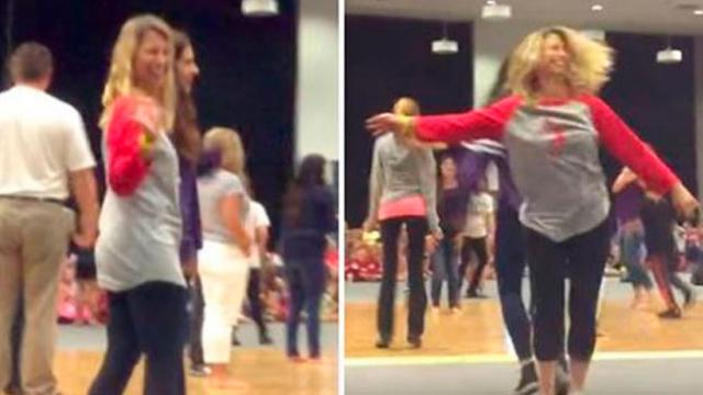 Mom Brings Dance Moves To The Floor Leaving Her Daughter Inspired And Crowd Roaring
