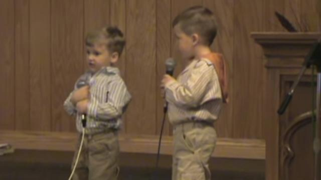 2 Adorable Toddlers Sing He Arose