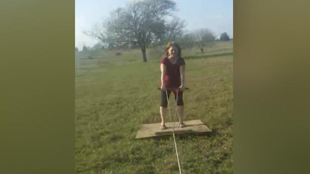 Cardboard Skiing  The Latest Trend In Farm Sports