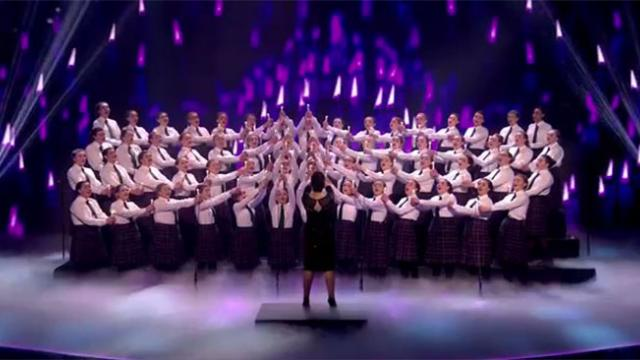 "60 Girls Line Up Onstage To Sing, Then Paralyze The Crowd With Chilling Rendition Of ""Ave Maria"""