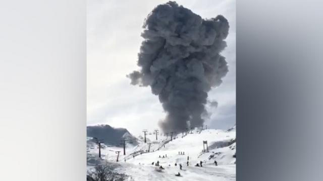 Volcano Erupts at Chilean Ski Resort