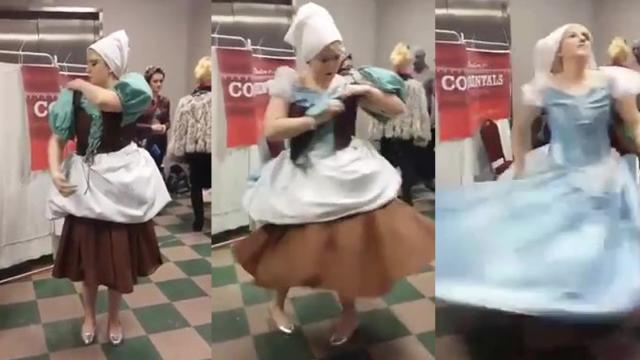 Amazing Cinderella Costume Transformation