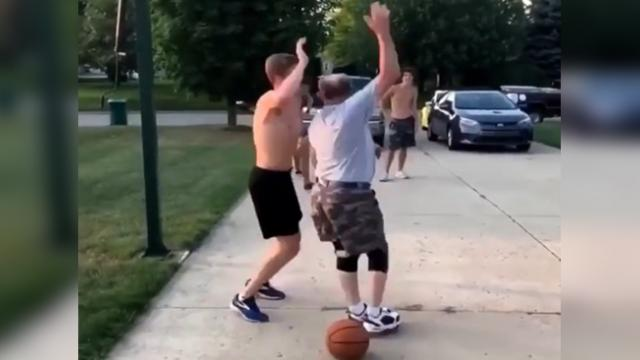 Watch Old Man's Best Basketball Shot Ever - Trending Viral
