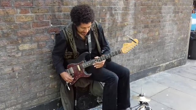 The spirit of Hendrix on the streets of London
