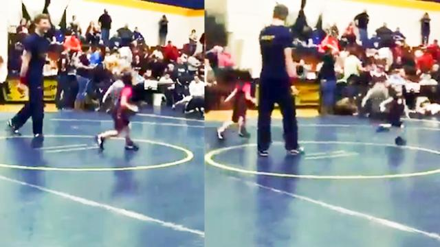 WATCH- Boy running from a girl in this toddler wrestling match is all levels of cuteness - The India