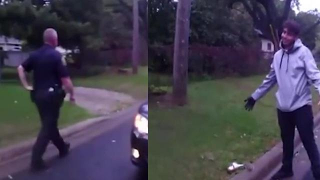 Cops See Teen Performing CPR On Tiny Animal Pull Over To Cheer Him On