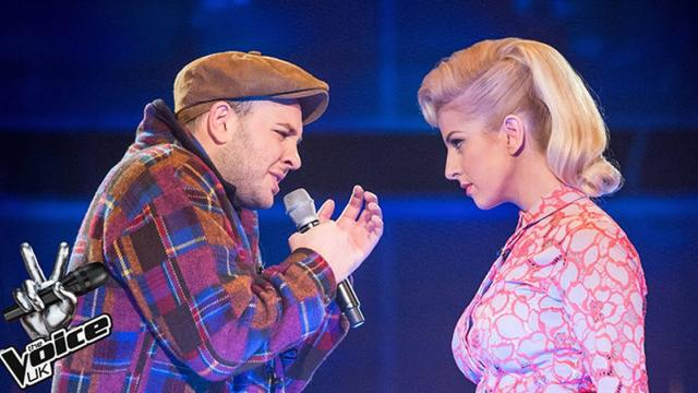 Dois concorrentes do programa The Voice UK, da Grã-Bretanha,