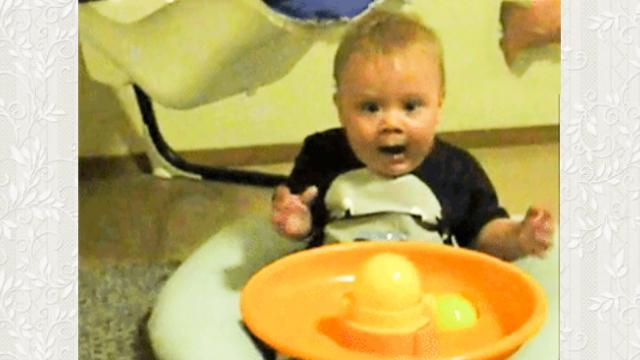 Baby boy freaks out over ball machine _ Laughing Babies _ toddletale