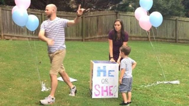 Couples About To Reveal Gender Of Rainbow Baby When Dad Puzzles