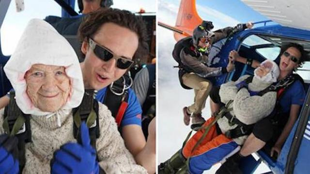 102-year-old woman breaks skydiving record