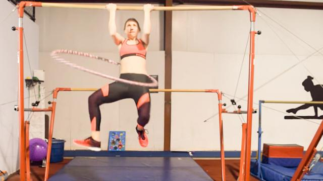 World Record Attempt- 12 Chin ups while hula hooping