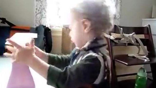 Baby works as cleaner