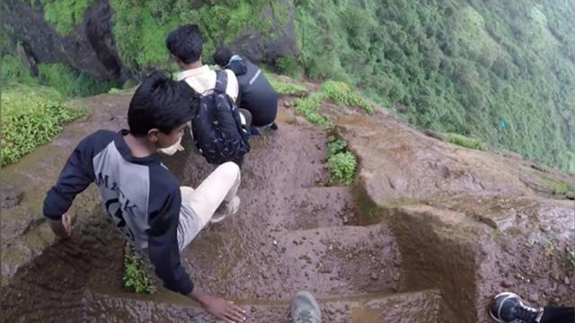 Dangerously Steep Trekking Steps In India