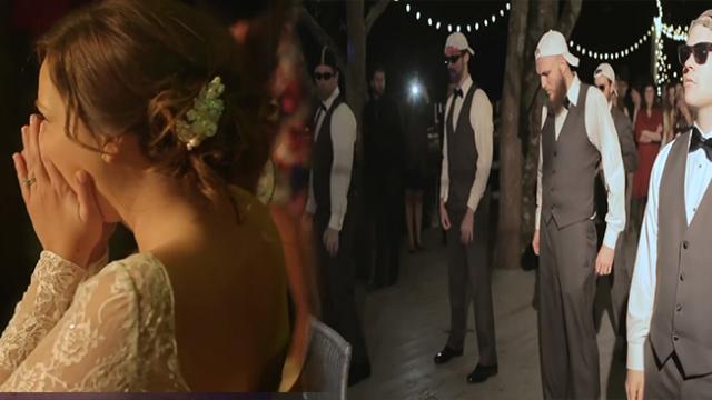 Bride's Dad Interrupts The Groomsmen Dance, And He's The Best Of Them All
