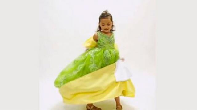 Dad Makes Beautiful Dresses For Daughter Then She Twirls Around And The Dress Instantly Transforms