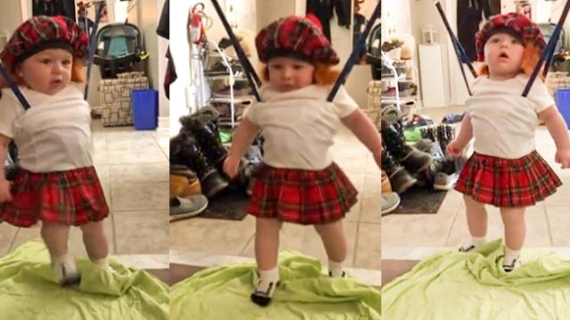 Adorable Baby Dancing In Kilt