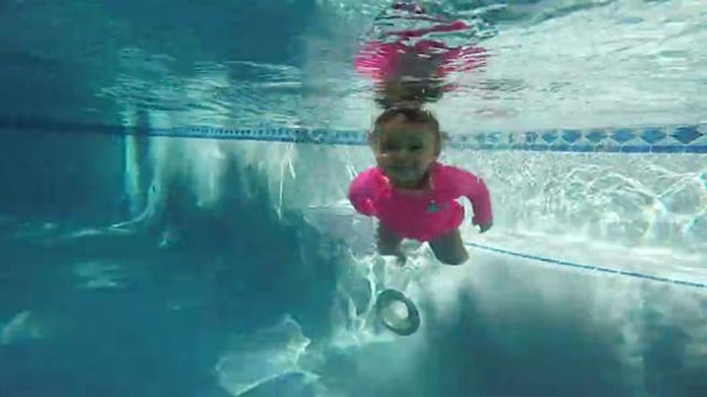 Cutest Toddler Is Already An Expert Swimmer