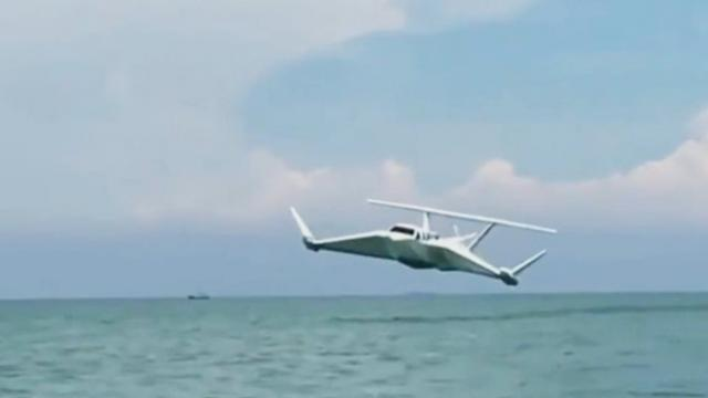 People can now sail the seas and take to the skies in this new invention called The Airfish 8!