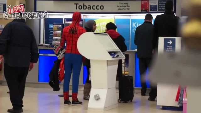 Birmingham man feeds homeless as Spider-Man