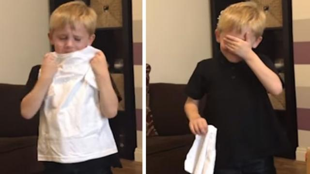 British 6-Yr-Old Melts Into Tears Of Joy After Mom Reveals He's