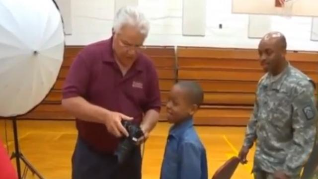 Soldier Dad Photobombs Son On Picture Day Leading To Emotional Moment Caught On Film