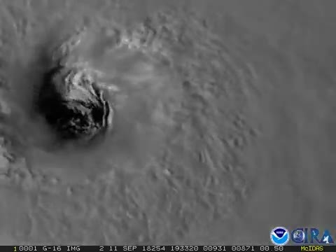 The eye of HurricaneFlorence