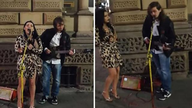 Strange Woman Starts Singing 'Hallelujah' With Street Performer, Her Voice Leaves Everyone In Chills