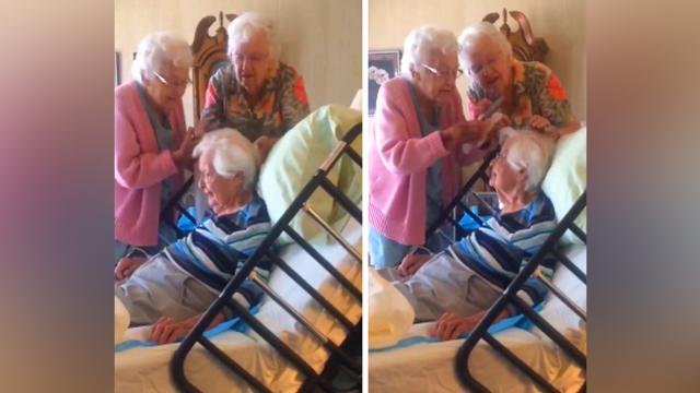 A Sweet Video Of Elderly Women Fixing Their 97-Year-Old Sisters