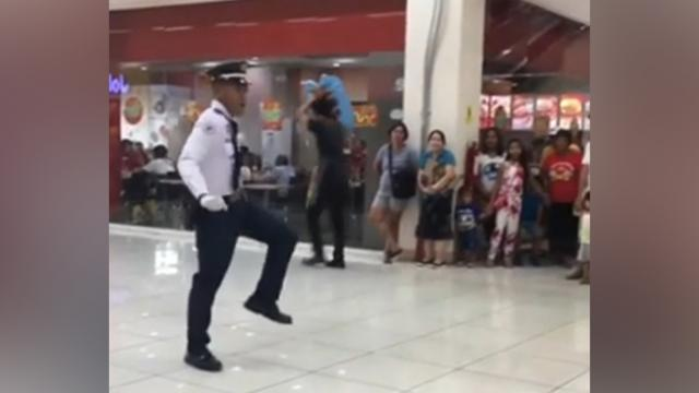 Mall Cop Commands Shoppers Attention