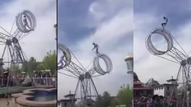 The skipping rope show on the air of 3 circus performers attracts over 1 million views