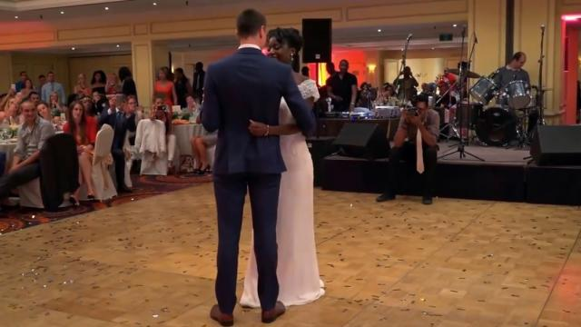 Bride pulls away from groom, then things take a wild turn on the dance floor