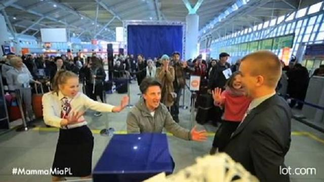 Passenger Receives A Flash Mob Surprise While Checking In At