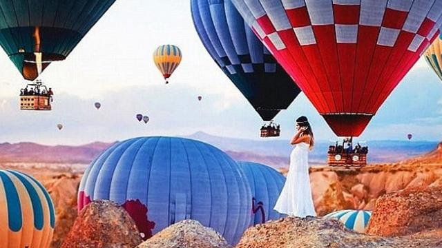 Charmed with homeland of hot air balloon in Turkey