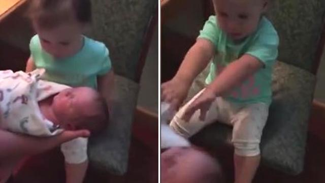 Tiny Tot Is Not Excited About Meeting Her Newborn Brother