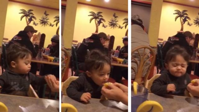 Little Boy Makes Epic Pucker Face After Trying First Lemon