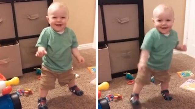 Pure Joy Sounds Like This Little Boy When He Discovers His Shoes