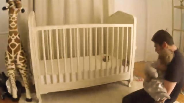 Dad Acts Fast to Catch 2-Year-Old Who Fell Out of Crib