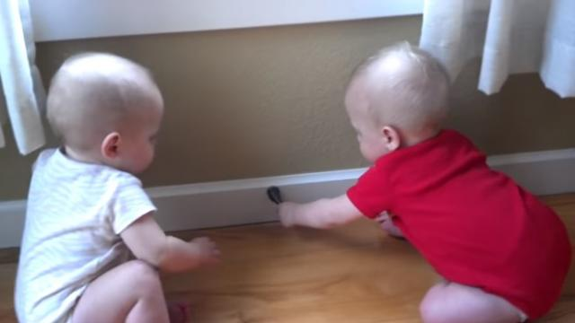 Babies Find The Best Toy Ever!