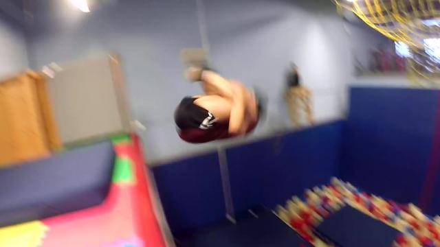 Athletes grab some air time at trampoline park_Large