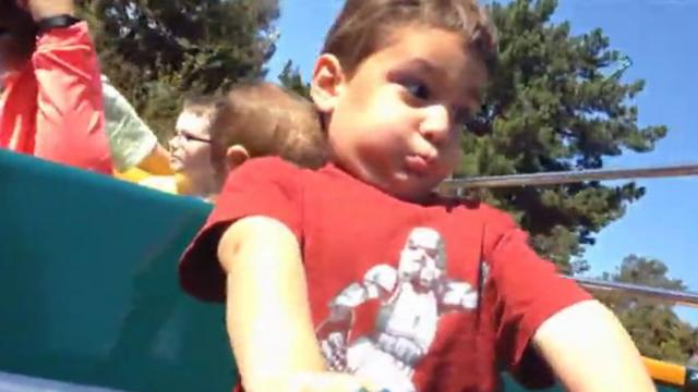 Little Boy Hilariously Holds His Breath During First Rollercoaster Ride_Large