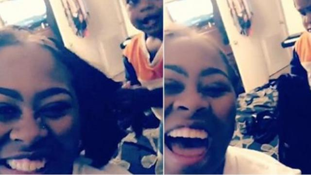 Hilarious Moment Toddler Accidentally Pulls His Moms Wig Off