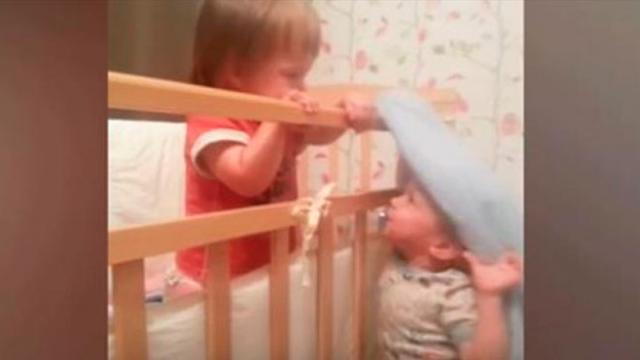 Mom Hears Funny Noises From Room Goes In To See Her Twins Have Escaped
