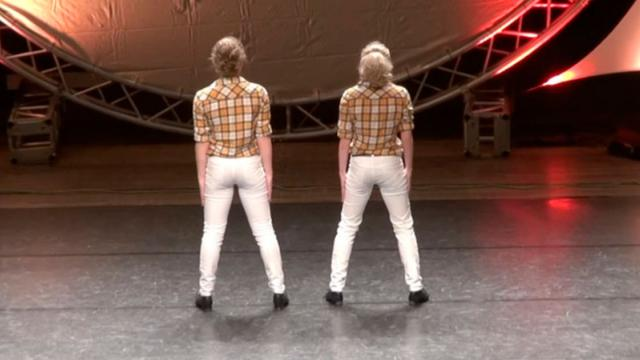 2 Girls Face Away From Crowd But Instant Music Starts Incredible Clogging Routine Leaves Judges Floo
