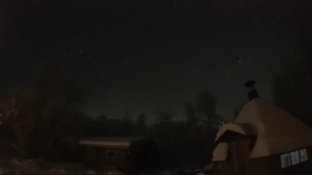 Blazing fireball over Finland turns night into day