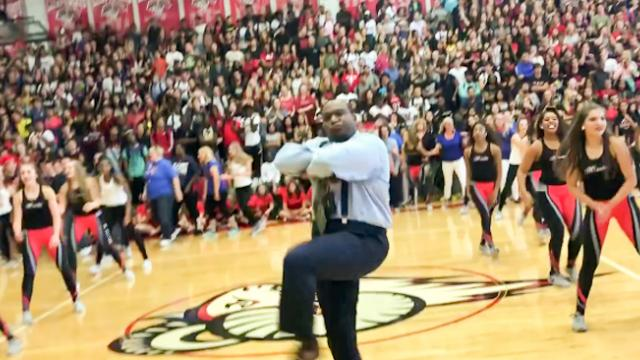 Teachers Secretly Practice Dance Moves After School & Wow Students At Epic Pep Rally.